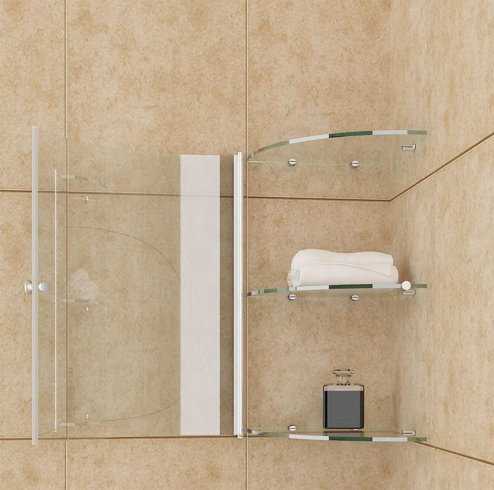 8mm glass storage shelf shower door enclosure accessories for Shower cubicle shelves