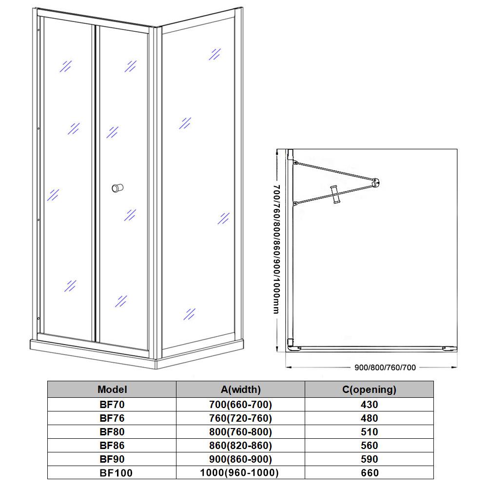 Dusche Nischent?r Faltt?r : Shower Enclosure Sliding Door