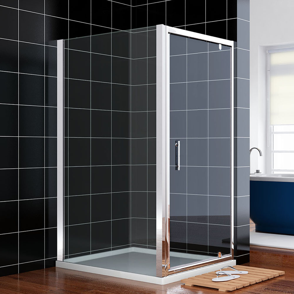 nische faltt r pendelt r dusche duschabtrennung echtglas links rechts 76 80 90cm ebay. Black Bedroom Furniture Sets. Home Design Ideas