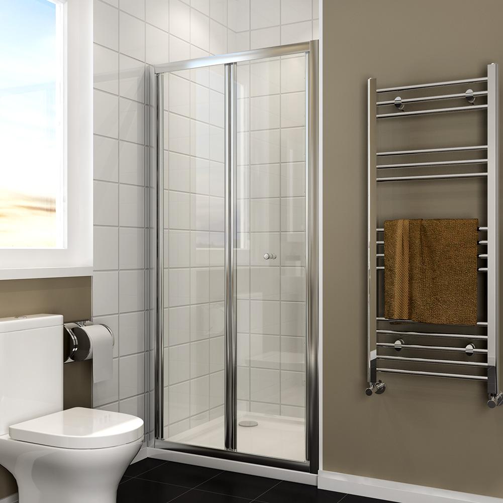 Bifold shower door enclosure screen glass 700 760 800 900 for Bifold screen doors
