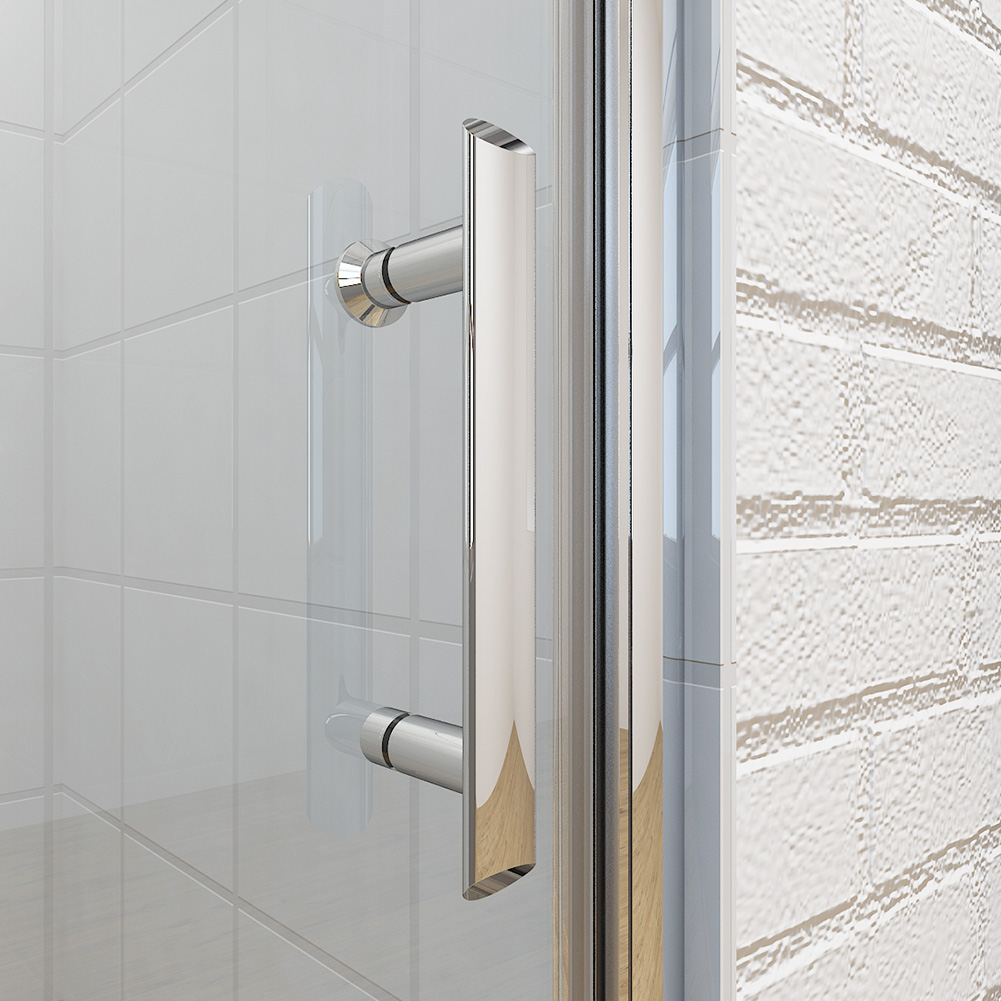 Frameless Bifold Shower Door Enclosure Hinge Door Glass Screen Walk
