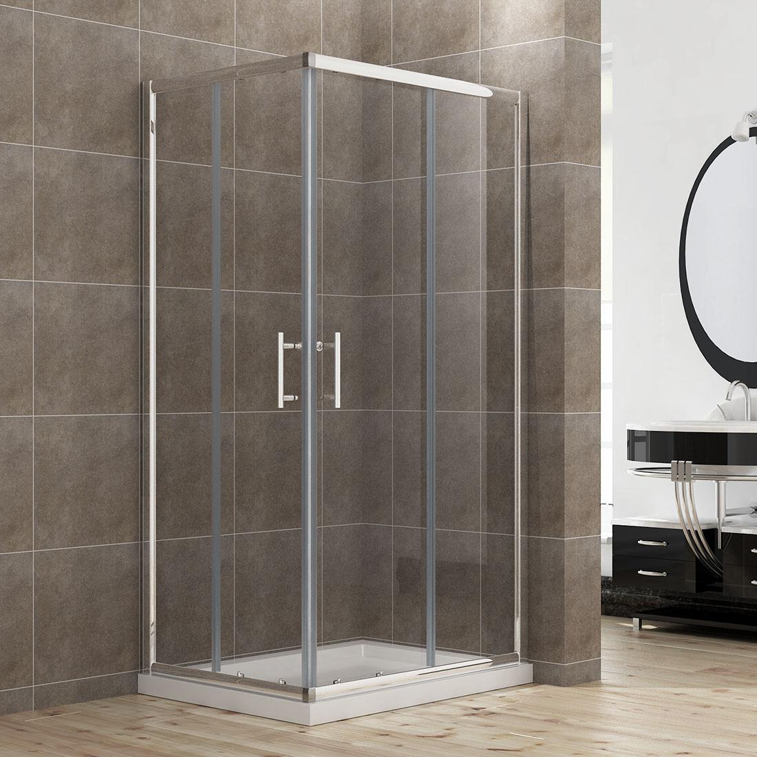 760x760mm Corner Entry Sliding Shower Door Cubicle