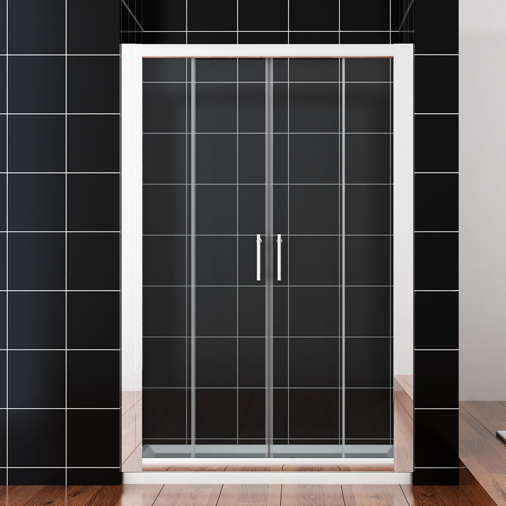 New double single sliding shower enclosure cubicle for Double screen doors