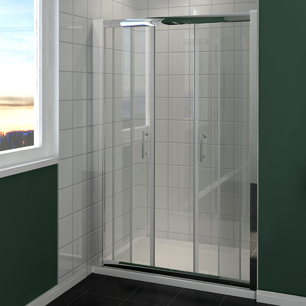 Sliding shower door double sliding shower enclosure glass for 1300 sliding shower door