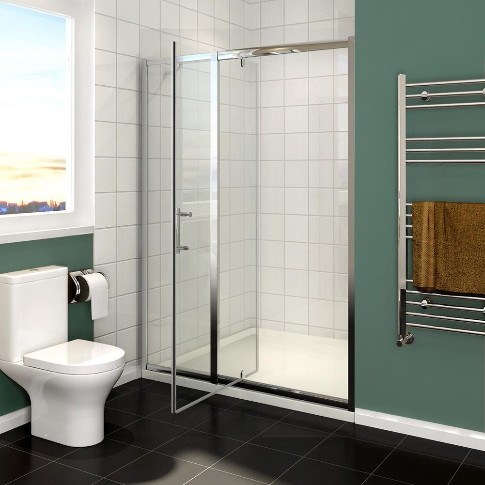 Bifold pivot sliding shower door walk in wet room glass for 1000mm pivot shower door
