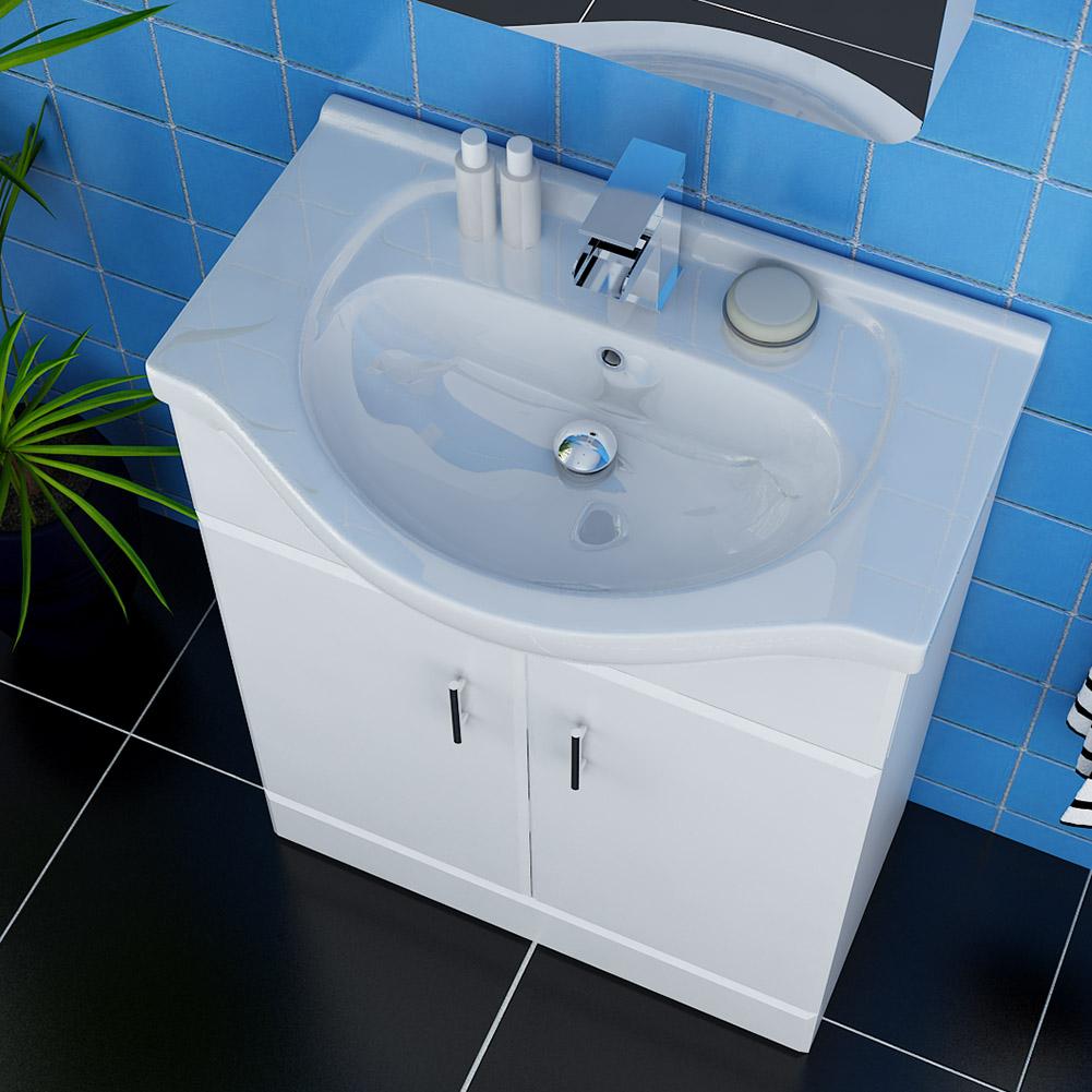 Bathroom Furniture Corner Vanity Unit Ceramic Basin Sink Storage Cabinet White Ebay