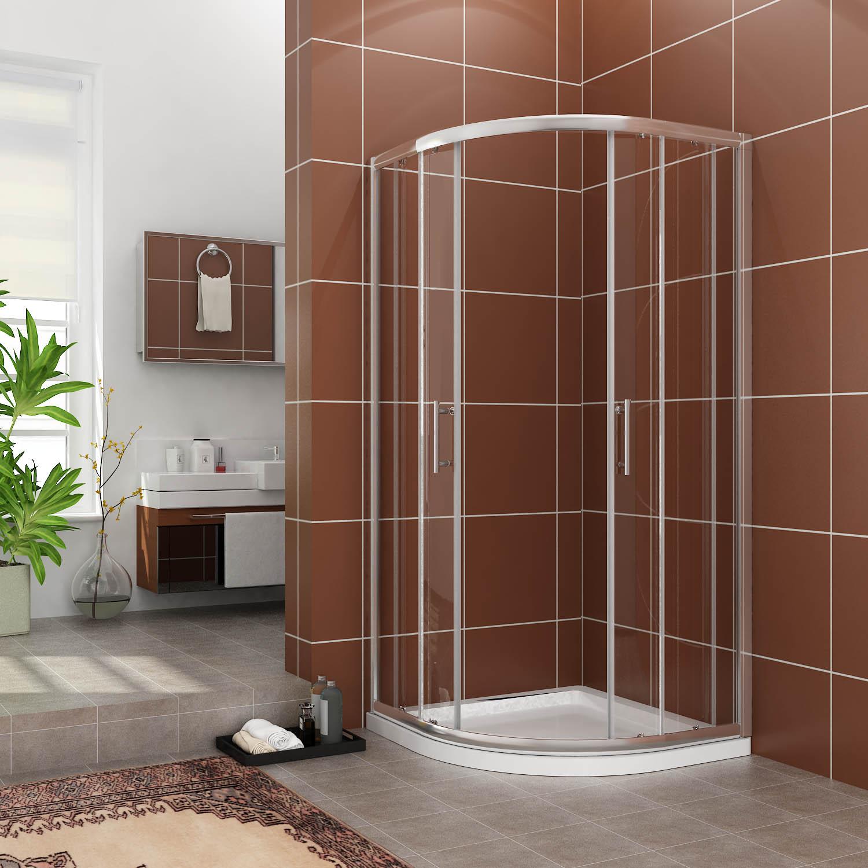 duschkabine 80 90 100 duschabtrennung runddusche viertelkreis dusche duschwanne ebay. Black Bedroom Furniture Sets. Home Design Ideas