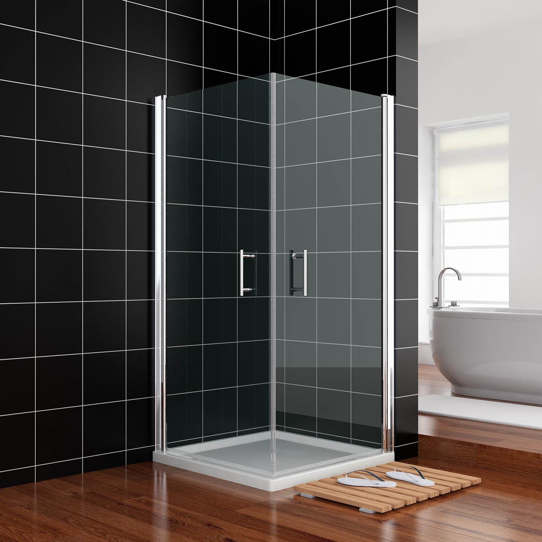 duschkabine eckeinstieg duschabtrennung schwingt r duscht r pendelt r dusche 6mm ebay. Black Bedroom Furniture Sets. Home Design Ideas