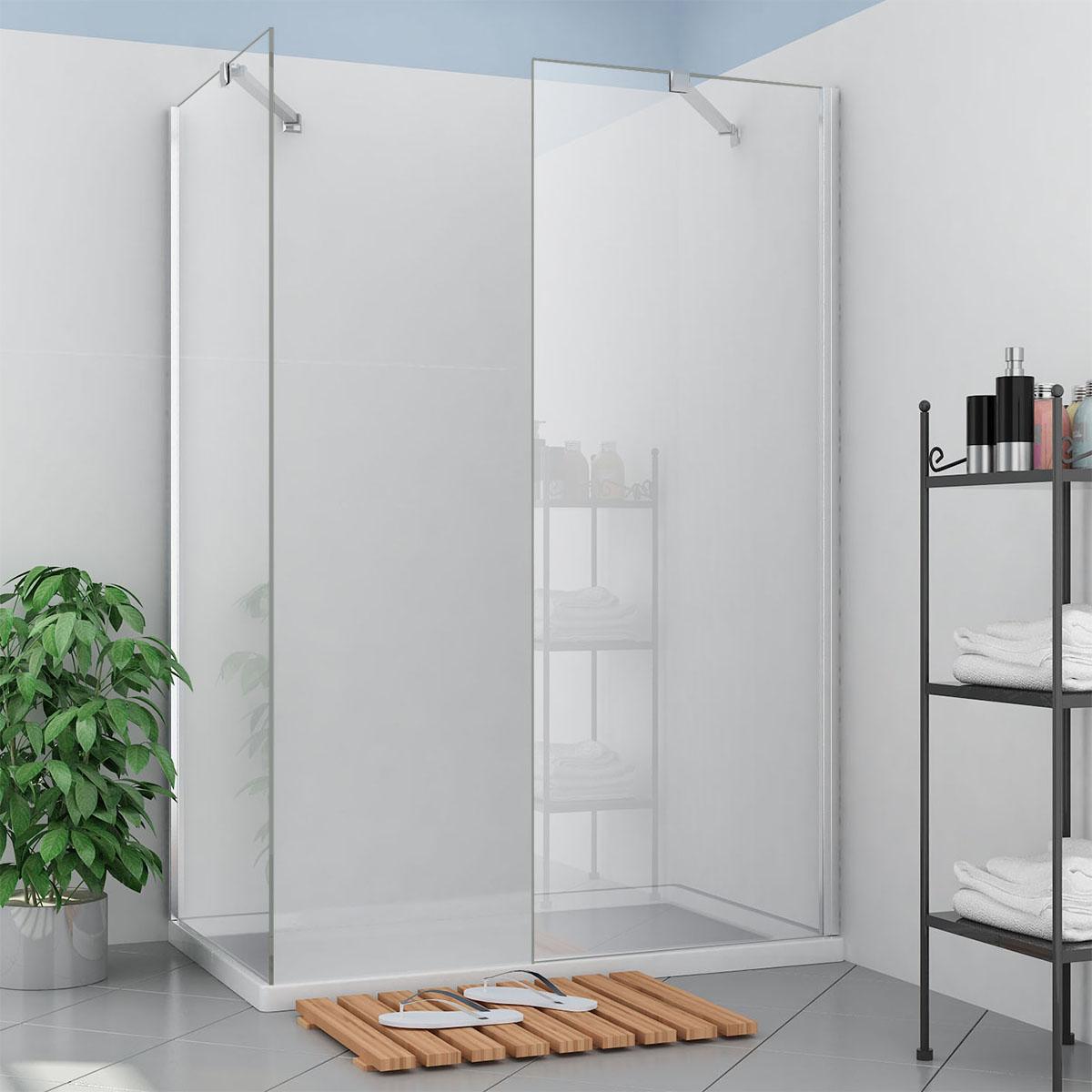 walk in dusche 120 120cm sicherheitsglas 8mm nano. Black Bedroom Furniture Sets. Home Design Ideas