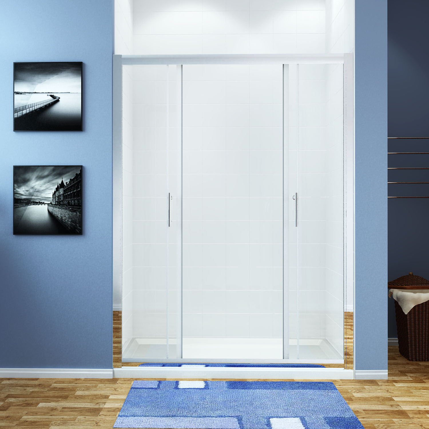 Bifold pivot sliding shower door walk in wet room glass for 1300 mm sliding shower door