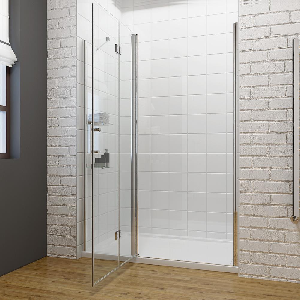 Frameless Hinge Bifold Pivot Shower Door Enclosure 1000