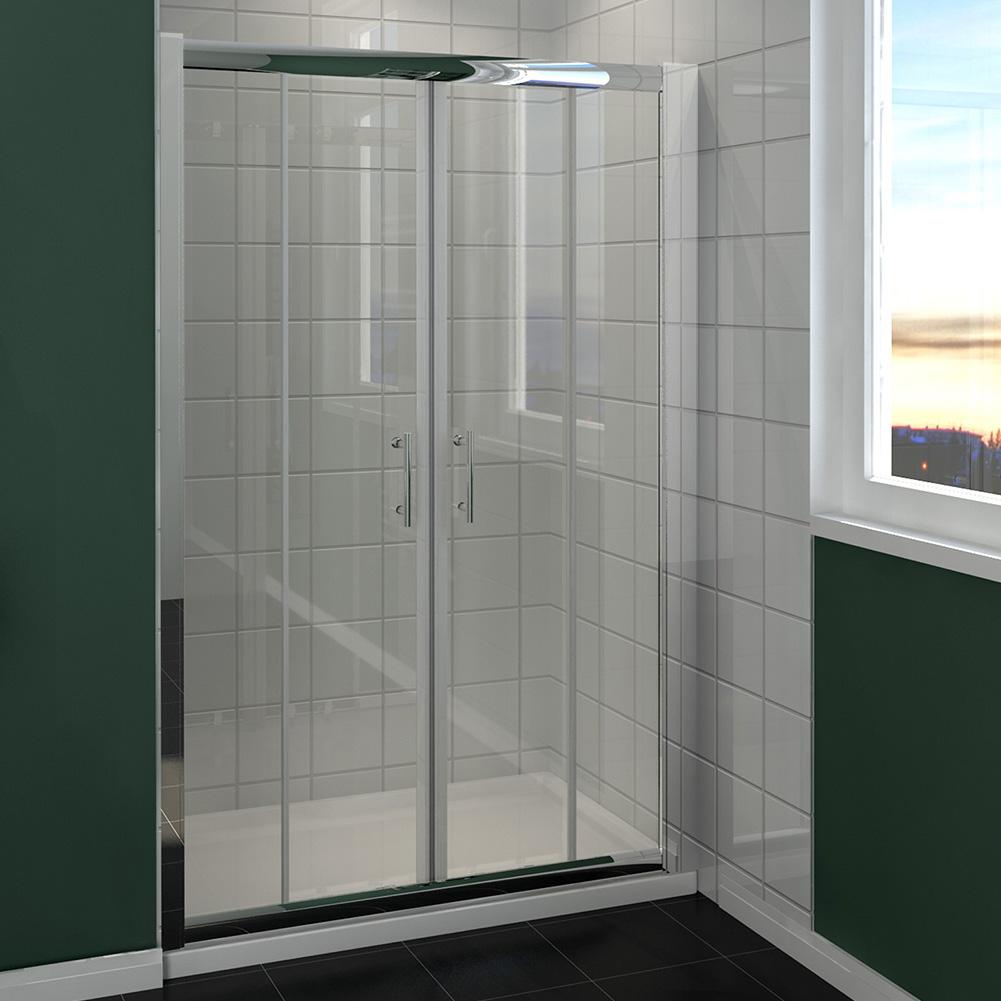 1200mm 1700mm sliding shower door 6mm glass walk in shower for 1700 high shower door