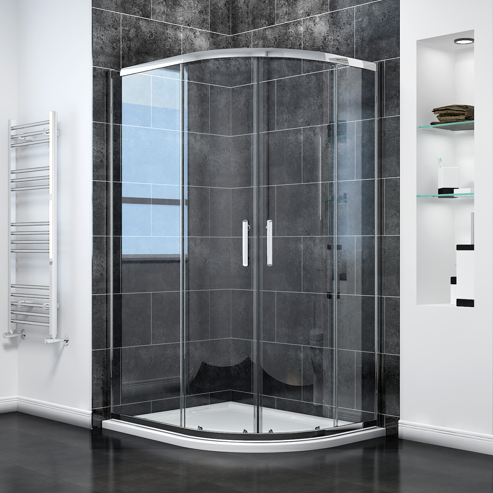 Offset Quadrant Shower Enclosure 6mm 8mm Easy Clean Glass