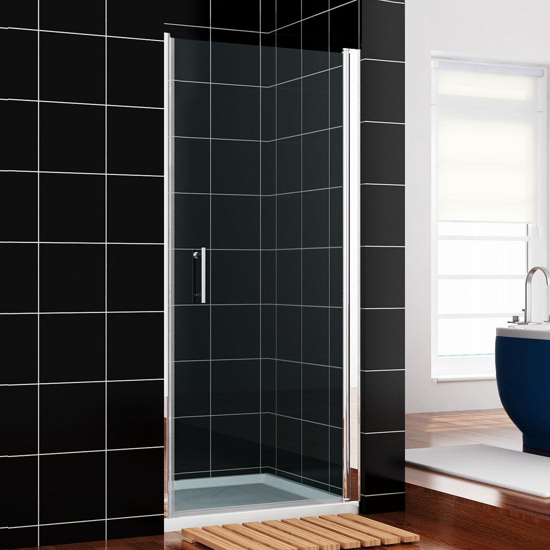 900mm Frameless Pivot Shower Door Walk In Hinge Glass Screen