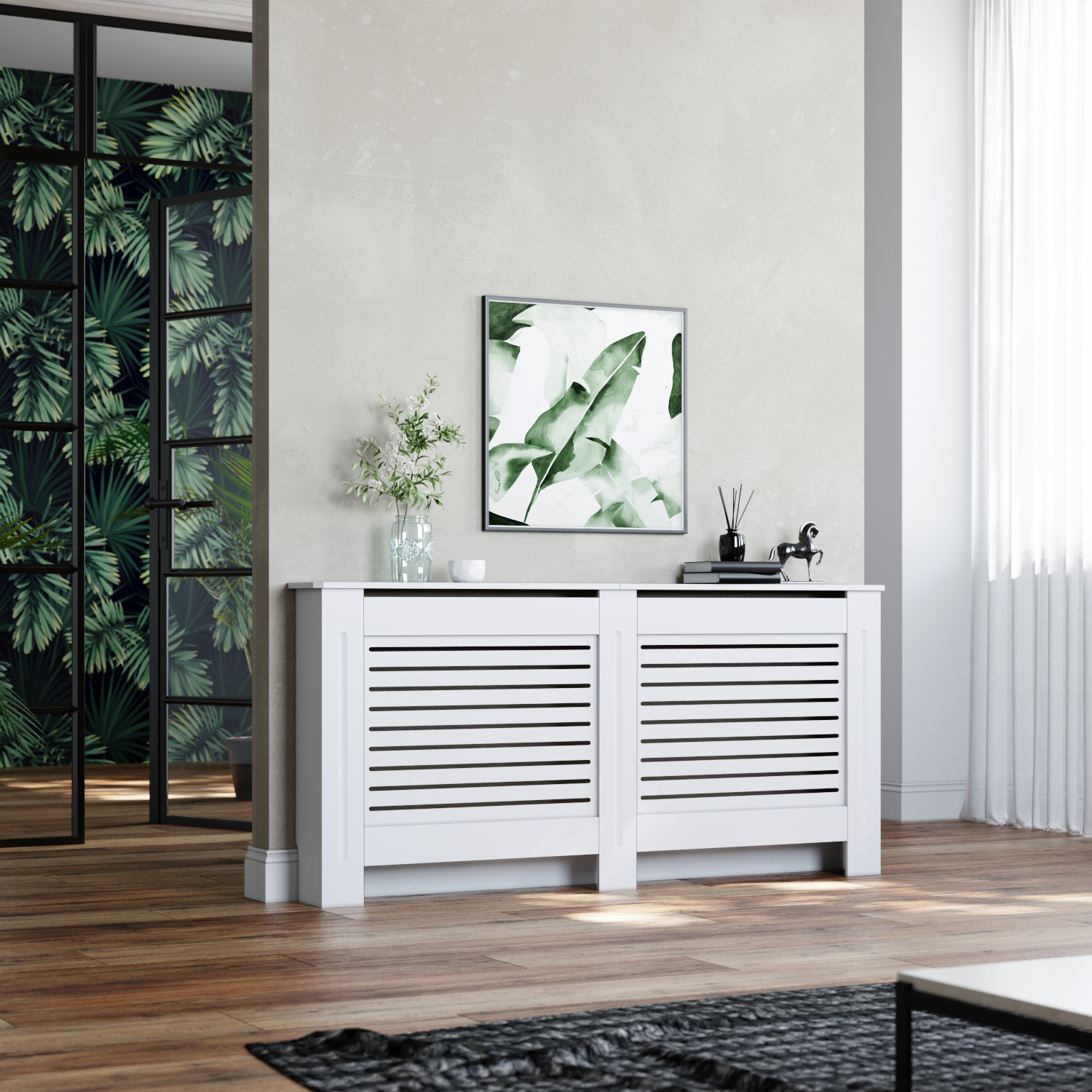 Radiator Cover Extra Large White Painted Mdf Wood Heating Cover Home Decor Ebay