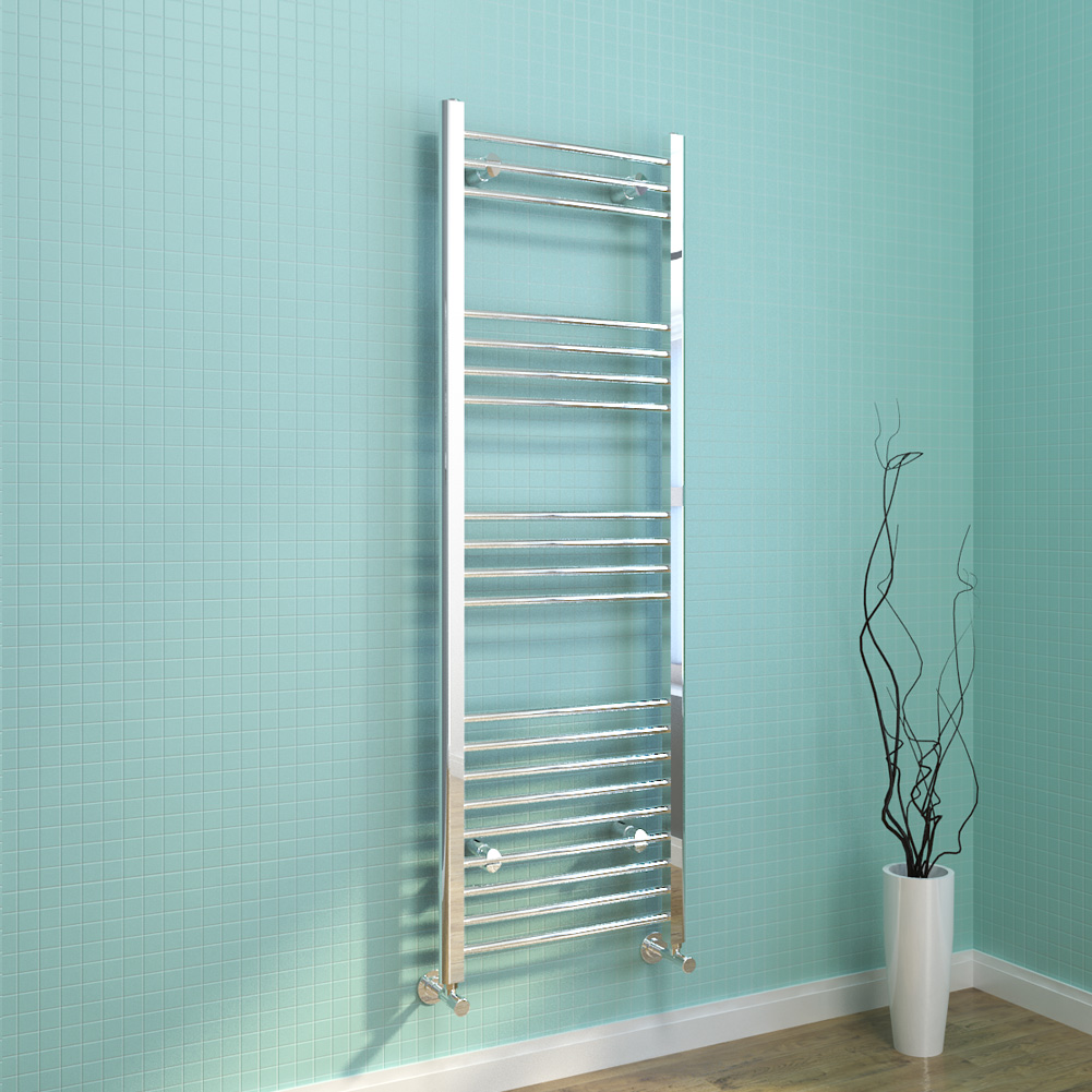 Luxury Curved Chrome Designer Towel Rail Central Heating