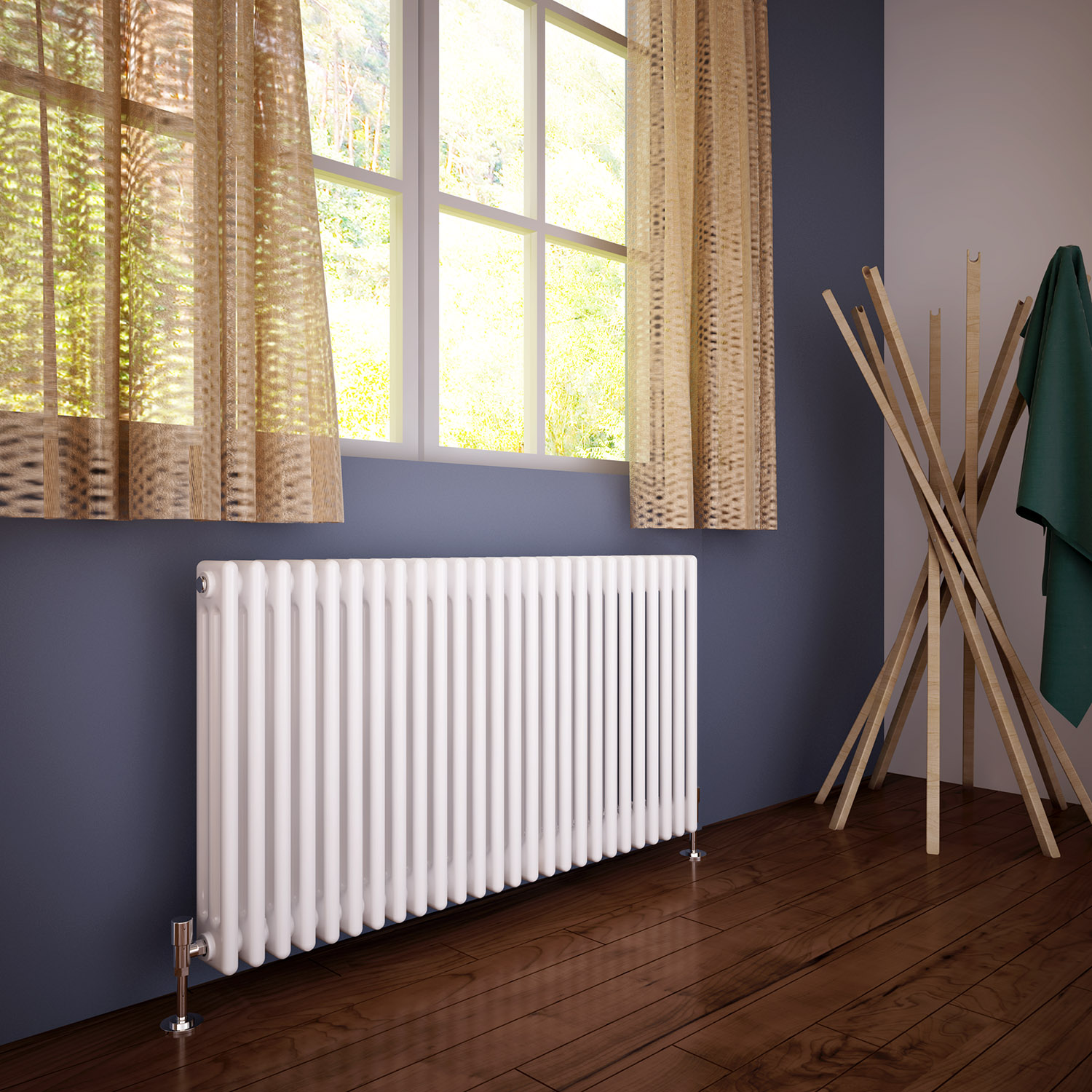 Traditional 3 Column Radiator Bathroom Horizontal Cast Iron Style Rads 600x1177 Ebay