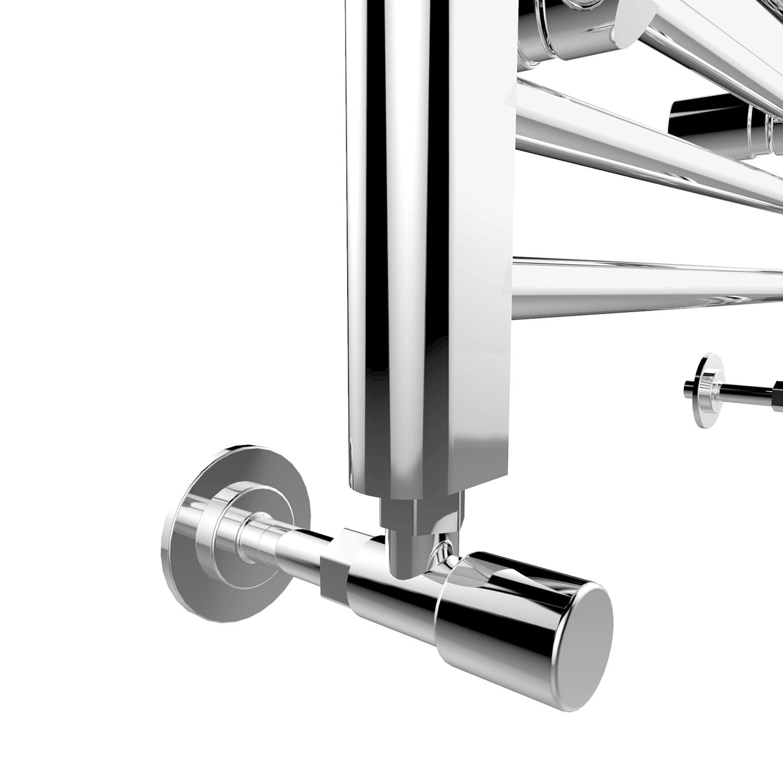 Chrome Bathroom Heated Towel Rail Radiator Straight Ladder