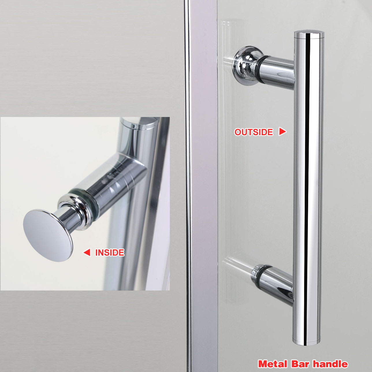Bifold sliding pivot shower door enclosure frameless 6mm for 1300 mm sliding shower door