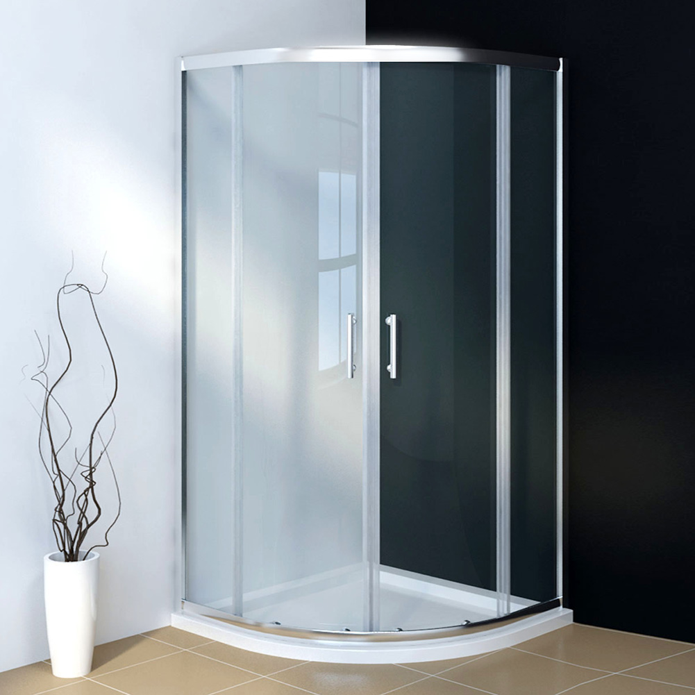 Quadrant Shower Cubicle Corner Entry Walk In Shower Enclosure and ...