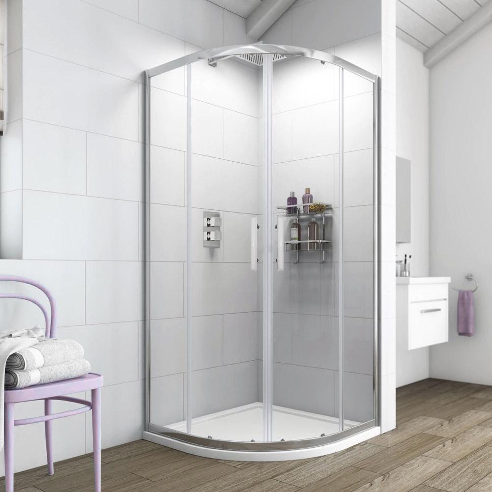 Offset Quadrant Shower Enclosure And Tray Corner Shower