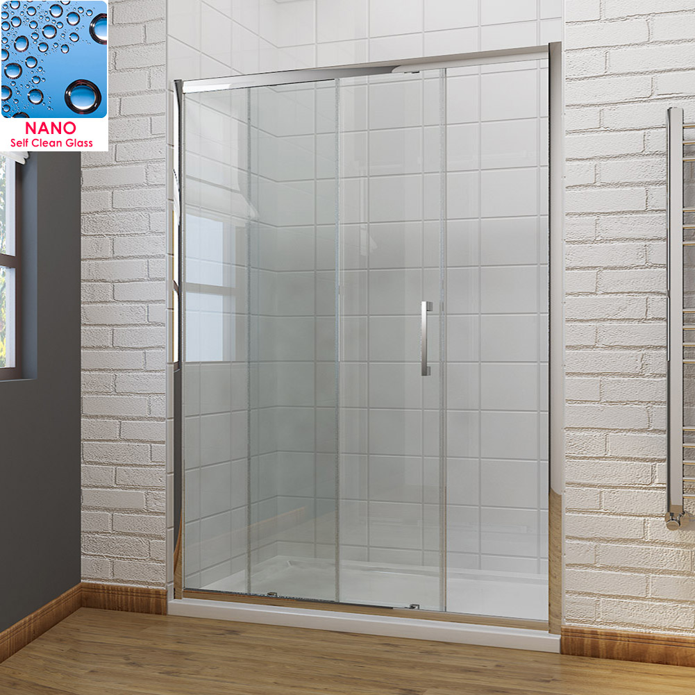 Bathroom bi fold sliding pivot shower doors enclosure for 1300 mm sliding shower door
