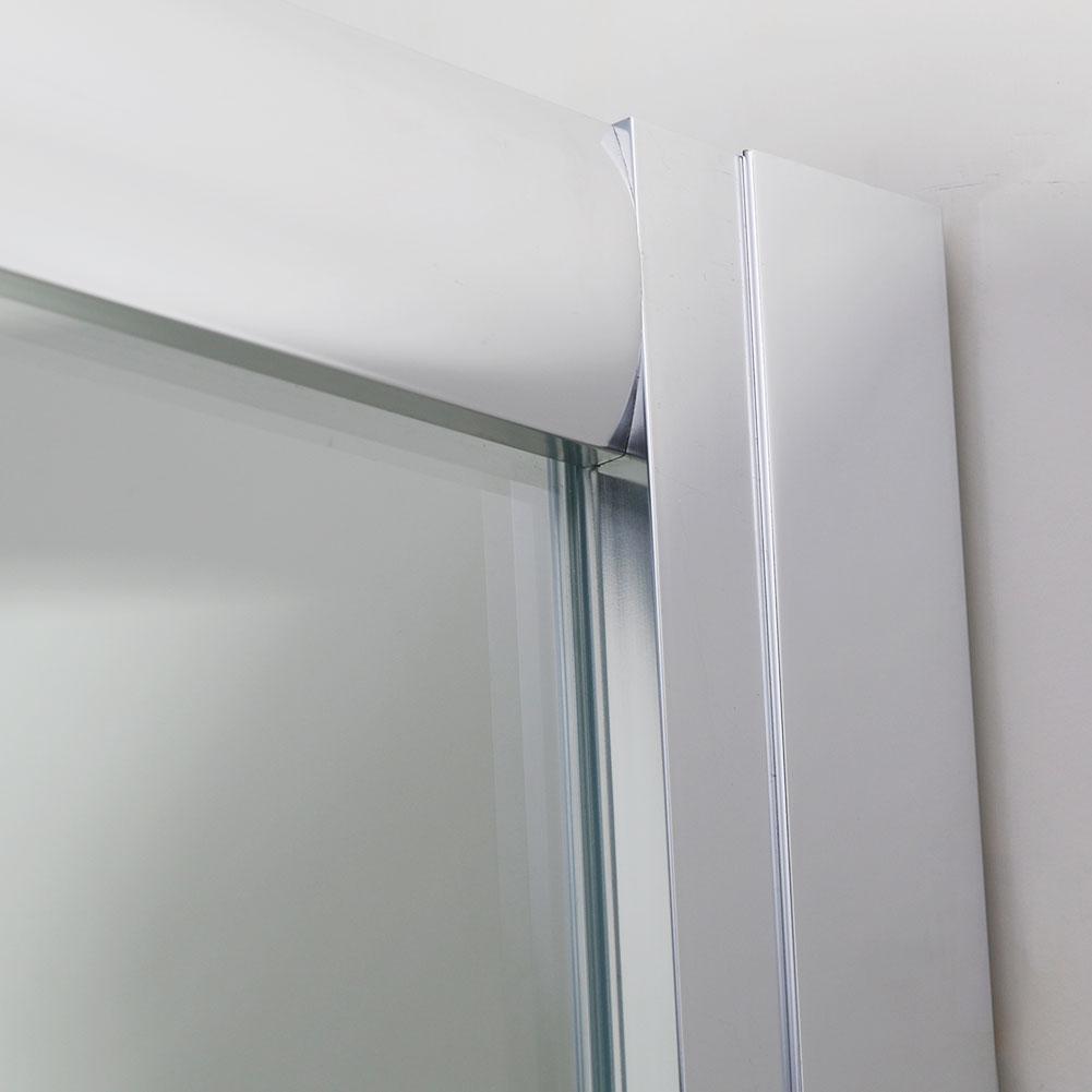 Bathroom bi fold sliding pivot shower doors enclosure for 1200mm bi fold shower door