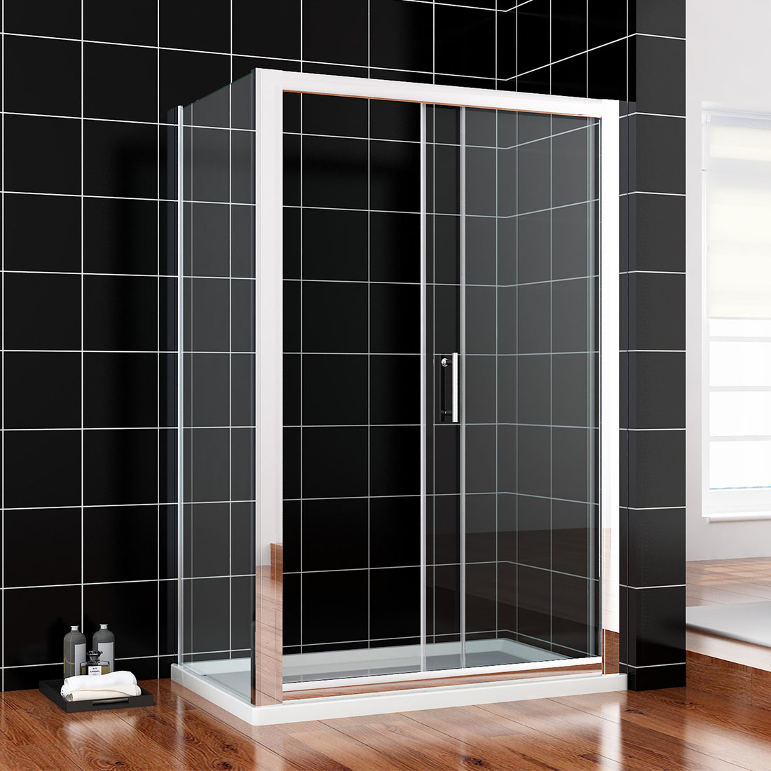 Walk in bifold pivot hinge sliding shower enclosures glass for 1300 mm sliding shower door