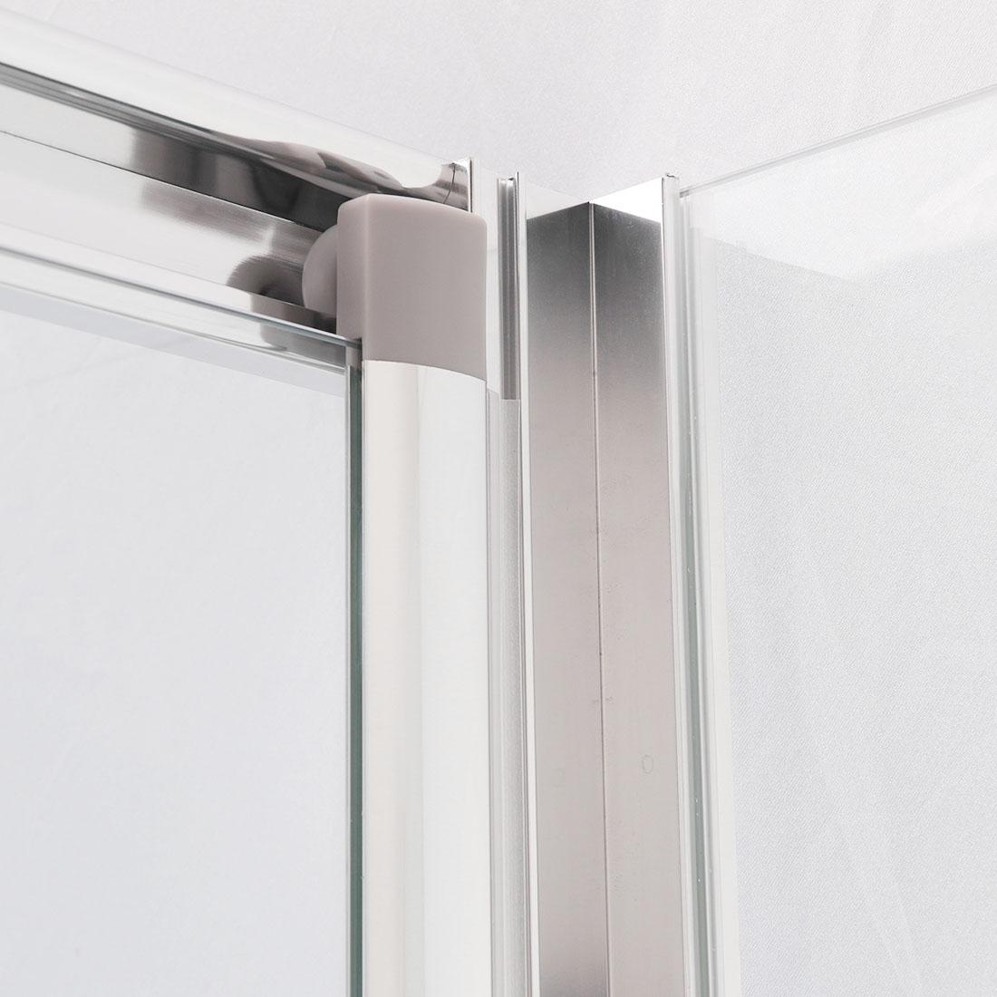 Walk In Shower Enclosure And Tray Bi Fold Hinge Pivot