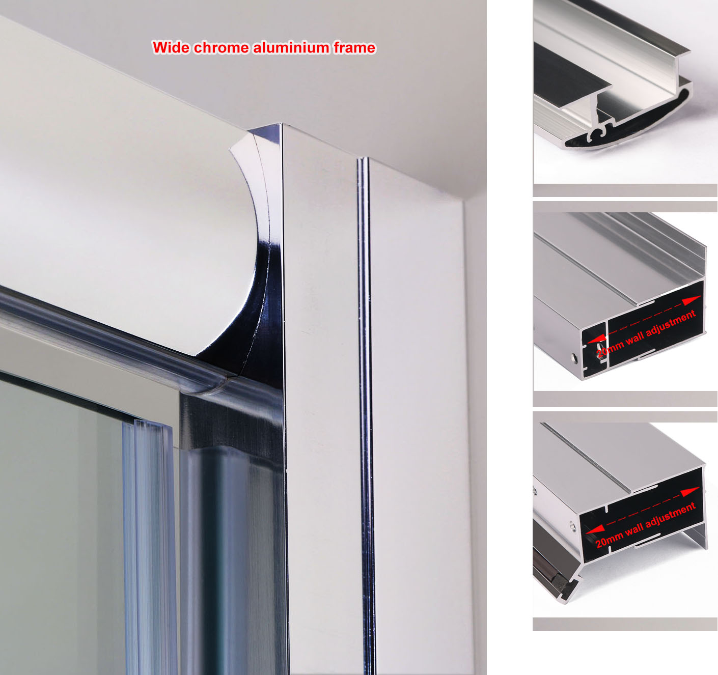 Details About Walk In Bifold Pivot Hinge Sliding Shower Enclosures Glass Door Screen Cubicles